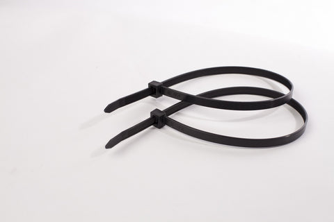 BCT 11 Inch 120 lb Cable Ties - Light Heavy Duty Industrial/Home Use - Bag of 100 - UV Black - Zip Ties - Y111200C