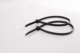 BCT 12 Inch 120 lb Cable Ties - Light Heavy Duty Industrial/Home Use - Bag of 100 - Black or Natural