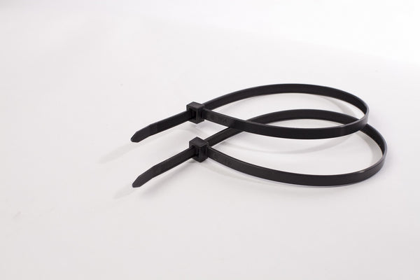BCT 11 Inch 120 lb Cable Ties - Light Heavy Duty Industrial/Home Use - Bag of 100 - UV Black - UV Zip Ties - Y111200C