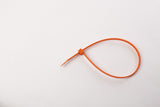 "8"" 120LB Cable Ties - 8 inch, 120 pound 100 Bag - Orange"