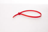 BCT 14 Inch 120 lb Cable Ties - Light Heavy Duty Industrial/Home Use - Bag of 100 - Red - Zip Ties - Y141202C