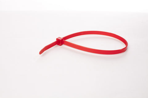 "8"" 120LB Cable Ties - 8 inch, 120 pound 100 Bag - Red"