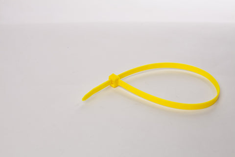 "8"" 120LB Cable Ties - 8 inch, 120 pound 100 Bag - Yellow"