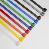 BCT 7 Inch 50 lb Cable Tie Pack - Medium Duty Industrial/Home Use - Pack of 1000 (Pack of 100 each of 10 Colors) - Assorted Colors - Zip Ties - Y750VP