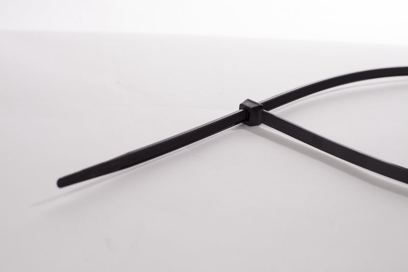 BCT 48 Inch 175 lb Cable Ties - Heavy Duty Industrial/Home Use - Bag of 50 - UV Black - Zip Ties - Y481750L