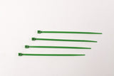BCT 4 Inch 18 lb Cable Ties - Light Duty Industrial/Home Use - Bag of 100 - Green - Zip Ties - Y4185C