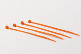 BCT 4 Inch 18 lb Cable Ties - Light Duty Industrial/Home Use - Bag of 100 - Orange - Zip Ties - Y4183C