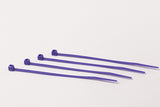 BCT 4 Inch 18 lb Cable Ties - Light Duty Industrial/Home Use - Bag of 100 - Purple - PurpleZip Ties - Y4187C