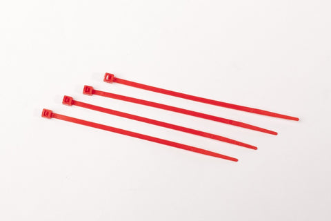 "4"" 18LB Cable Ties 1000 Bag - 4 Inch, 18 Pound      Red"