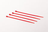 "8"" 18LB Cable Ties - 100 Bag  8 inch, 18 pound - Red"