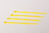 "4"" 18LB Cable Tie - 4 Inch, 18 Pound      Yellow"