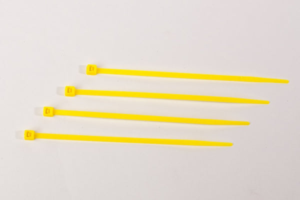 "4"" 18LB Cable Ties 1000 Bag - 4 Inch, 18 Pound       Yellow"