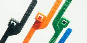 BCT Easy Release 6 Inch Tear Away Cable Ties - Bag of 100 Bag - Orange - Zip Ties - Y63TTC