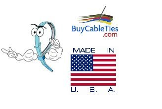 BCT 8 Inch 40 lb Cable Ties - Intermediate Duty Industrial/Home Use - Bag of 1000 - Blue - Zip Ties - Y8406M
