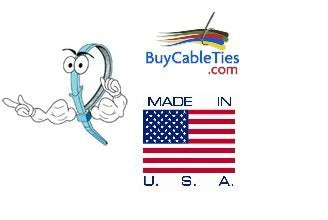 BCT 11 inch 50 lb Indoor Cable Ties - Medium Industrial/Home Use - Bag of 100 - Blue Zip Ties - Y11506C