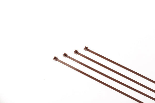 "8"" 40LB Cable Ties - 8 Inch, 40 Pound 100 bag  - Brown"