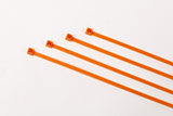 "8"" 40LB Cable Ties - 8 Inch, 40 Pound 100 bag -  Orange"