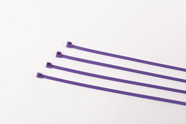 "8"" 40LB Cable Ties - 8 Inch, 40 Pound 100 Bag  - Purple"