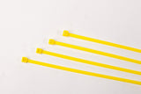 "8"" 40LB Cable Ties - 8 Inch, 40 Pound100 bag - Yellow"