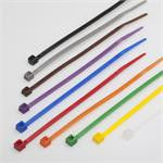 BCT 4 Inch 18 lb Cable Ties - Light Duty Industrial/Home Use - Bag of 100 - UV Black - Zip Ties - Y4180C