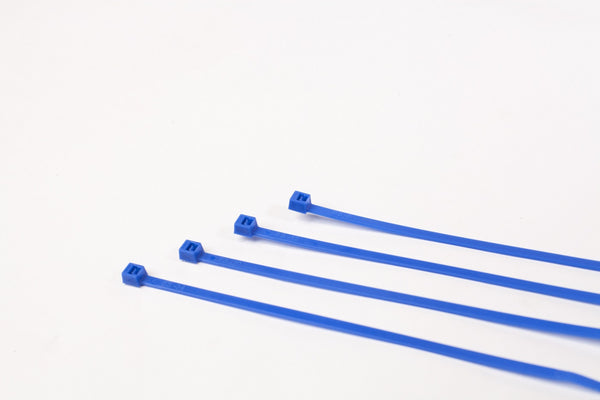 "7"" 50LB Cable Ties 1000 Bag - 7 Inch, 50 Pound -  Blue"