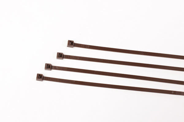 BCT 14 Inch 50 lb Cable Ties - Medium Duty Industrial/Home Use - Bag of 100 - Brown - Zip Ties - Y14501C