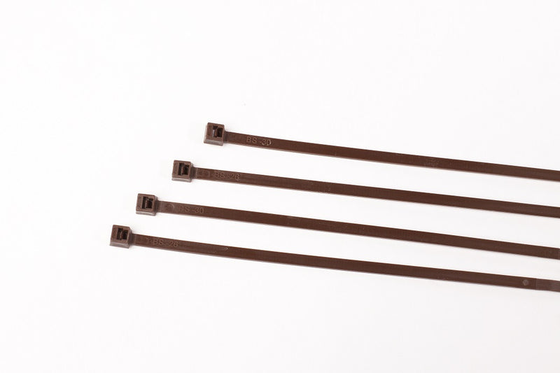 BCT 7 Inch 50 lb Cable Ties - Medium Duty Industrial/Home Use - Bag of 1000 - Brown - Zip Ties - Y7501M