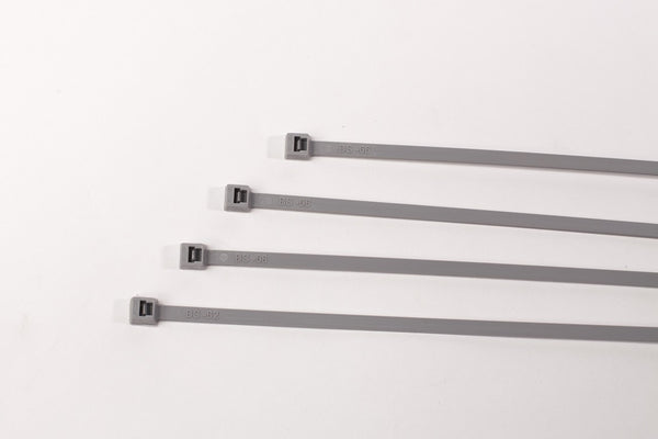 BCT 7 Inch 50 lb Cable Ties - Medium Duty Industrial/Home Use - Bag of 100 - Gray - Zip Ties - Y7508C