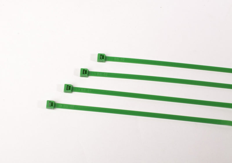 BCT 14 Inch 50 lb Cable Ties - Medium Duty Industrial/Home Use - Bag of 1000 - Green - Zip Ties - Y14505M