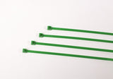 BCT 7 Inch 50 lb Cable Ties - Medium Duty Industrial/Home Use - Bag of 100 - Green - Zip Ties - Y7505C