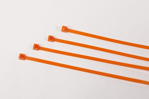 "11"" 50LB  Cable Ties - 11 Inch, 50 Pound  100 Bag  -  Orange"