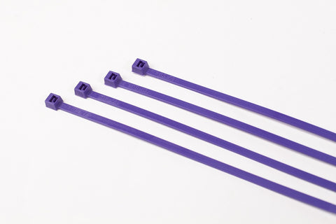 BCT 11 inch 50 lb Cable Ties - Medium Duty Industrial/Home Use  - Bag of 1000 - Purple - PurpleZip Ties - Y11507M