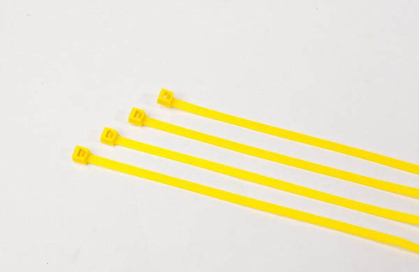 BCT 11 Inch 50 lb Cable Ties - Medium Duty Industrial/Home Use - Bag of 100 - Yellow - Zip Ties - Y11504C