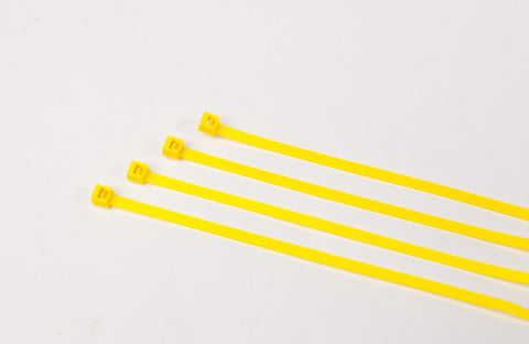 BCT 11 Inch 50 lb Cable Ties - Medium Duty Industrial/Home Use - Bag of 1000 - Yellow - Zip Ties - Y11504M
