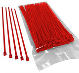 BCT 8 Inch 40 lb Cable Ties - Intermediate Duty Industrial/Home Use - Bag of 100 - Red - Zip Ties - Y8402C