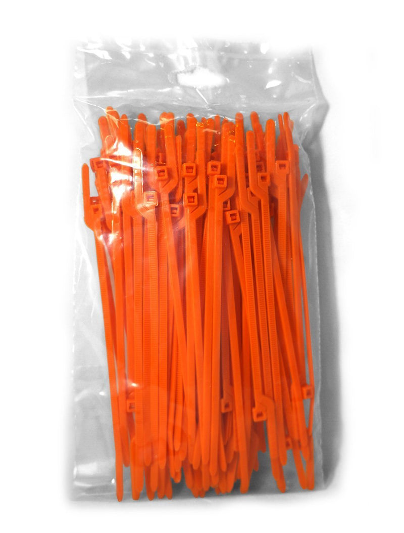 BCT Easy Release 6 Inch Tear Away Cable Ties - Bag of 1000 - Orange - Zip Ties - Y63TTM