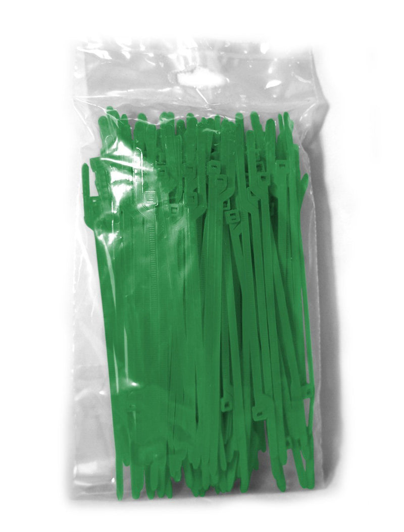 BCT Easy Release 6 Inch Tear Away Cable Ties - Bag of 1000 - Green - Zip Ties - Y65TTM