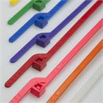 6 Inch Tear Away Cable Ties 100 Bag - Pink