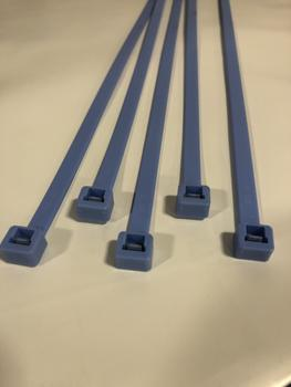 BCT 11 Inch 50 LB ALL WEATHER Cable Ties - Standard - Industrial/Home Use - Indoor/Outdoor - Bag of 100 - Light/Medium Blue - Zip Ties - Y1150AWC
