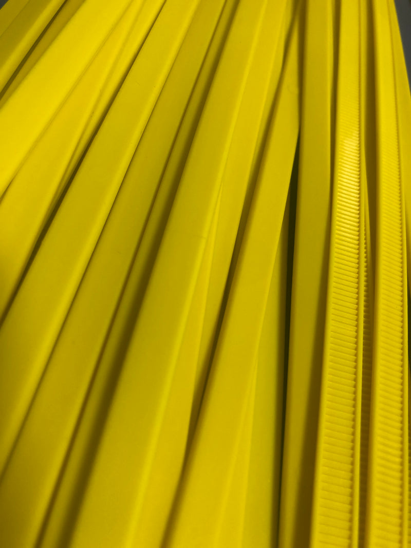 IMPERFECT  -  BCT36 Inch 175 LB Cable Ties - Heavy Duty All Weather Cable Ties - Bag of 50 - Yellow Zip Ties - Y361754L-IMP