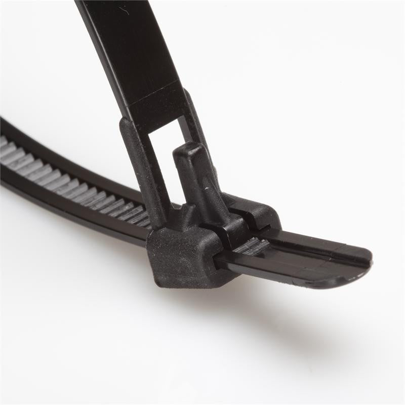 BCT 11 Inch 50 lb Releasable Cable Ties - Medium Duty Industrial/Home Use - Bag of 100 - UV Black or Natural - UV Zip Ties
