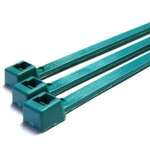 "7"" 50LB Metal Detectable Cable Ties - 7 Inch, 50 Pound, 100 Bag - Teal"