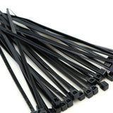 BCT 4 Inch 18 lb Cable Ties - Light Duty Industrial/Home Use - Bag of 100 - UV Black - UV Zip Ties - Y4180C