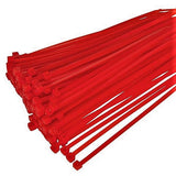 BCT 11 Inch 50 lb Cable Ties - Medium Duty Industrial/Home Use - Bag of 100 - Red - Zip Ties - Y11502C