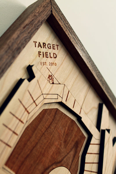 Target Field - Ballpark Diamond by Stadium Graph - 3