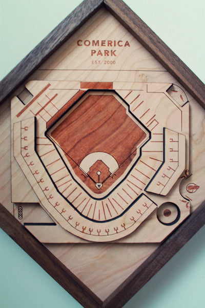 Comerica Park - Ballpark Diamond by Stadium Graph - 3