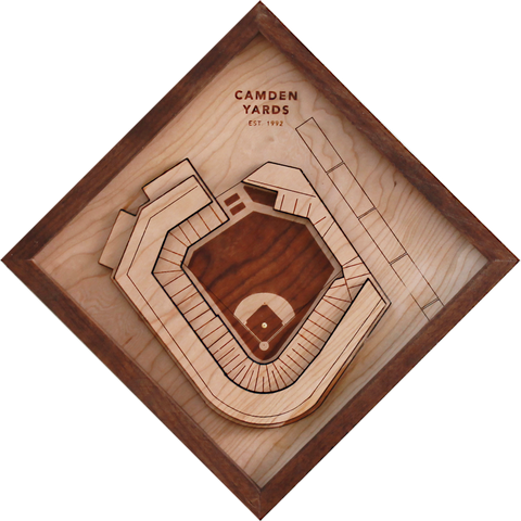 Camden Yards - Ballpark Diamond by Stadium Graph - 1