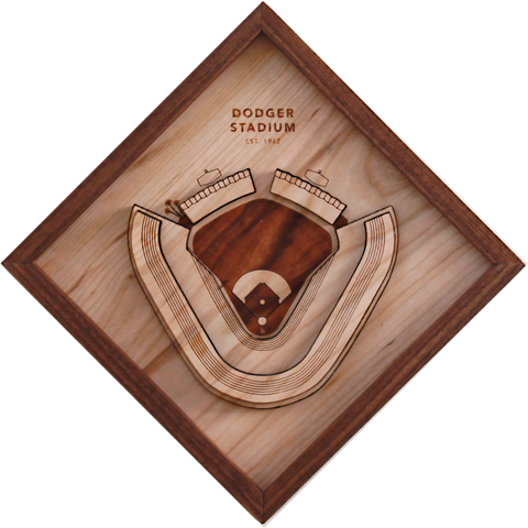 Dodger Stadium - Ballpark Diamond by Stadium Graph - 1