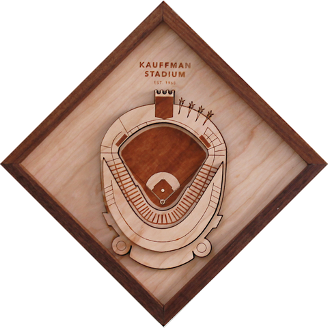 Kauffman Stadium - Ballpark Diamond by Stadium Graph - 1