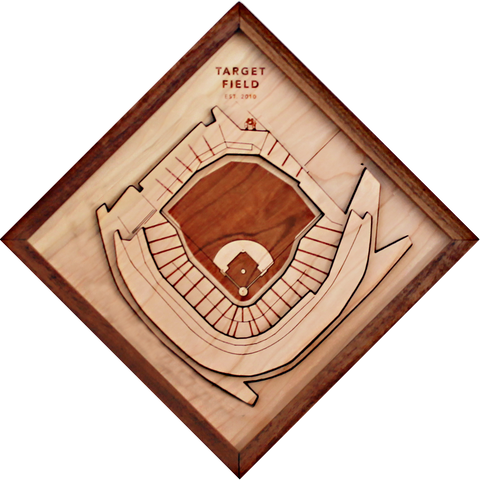 Target Field - Ballpark Diamond by Stadium Graph - 1